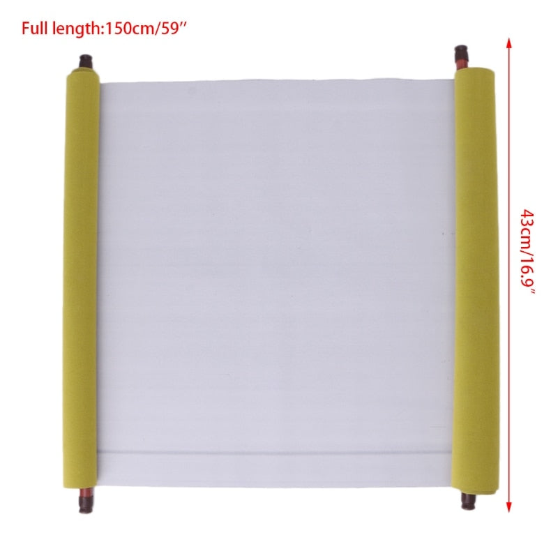 Reusable 1.5m Chinese Magic Scroll Cloth Water Paper Calligraphy Fabric Craft Book Notebook  Size Chart Reusable 1.5m Chinese Magic Scroll Cloth Water Paper Calligraphy Fabric Craft Book Notebook Size Chart