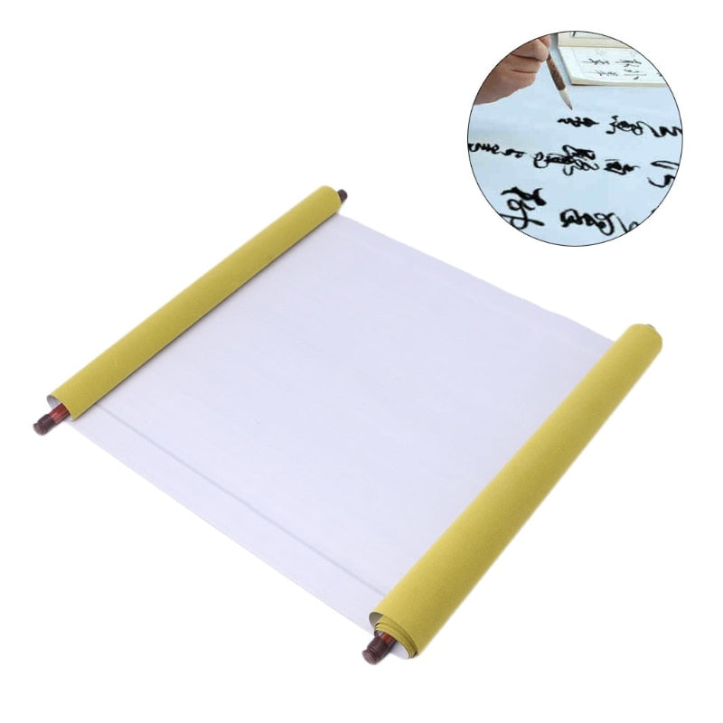 Reusable 1.5m Chinese Magic Scroll Cloth Water Paper Calligraphy Fabric Craft Book Notebook Style