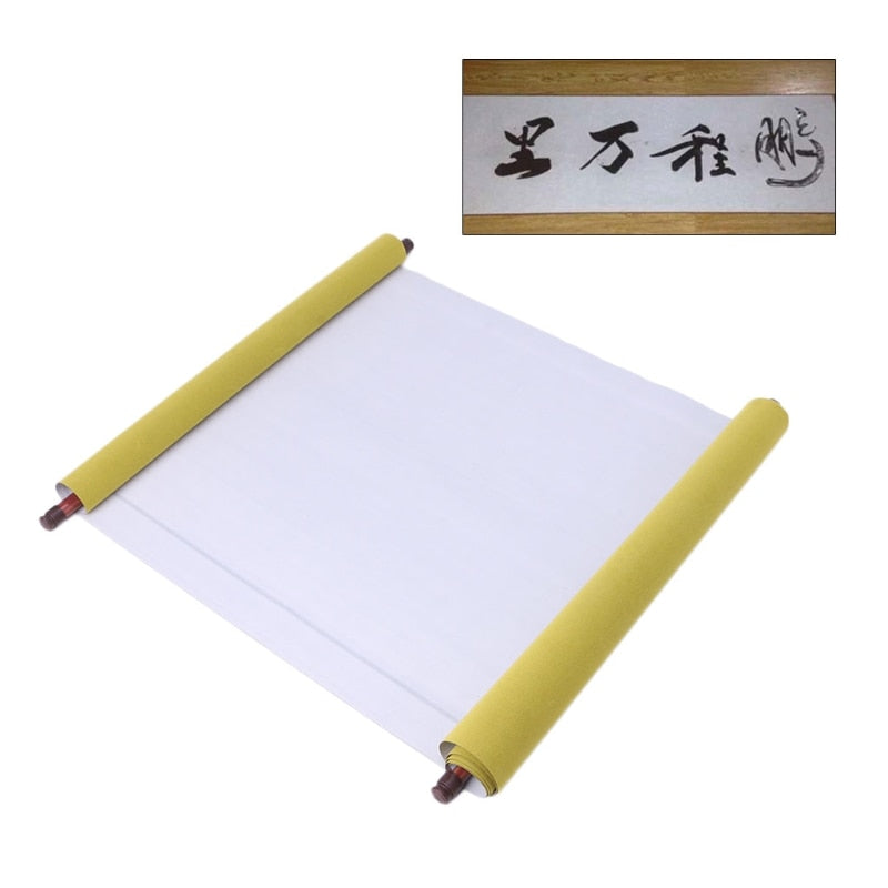 Reusable 1.5m Chinese Magic Scroll Cloth Water Paper Calligraphy Fabric Craft Book Notebook Details