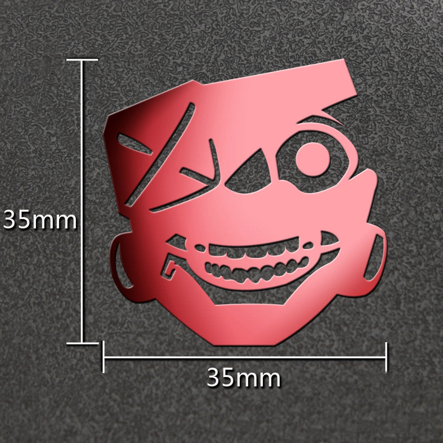 Japanese Anime Tokyo Ghoul DIY 3D Metal Stickers Japan Style G