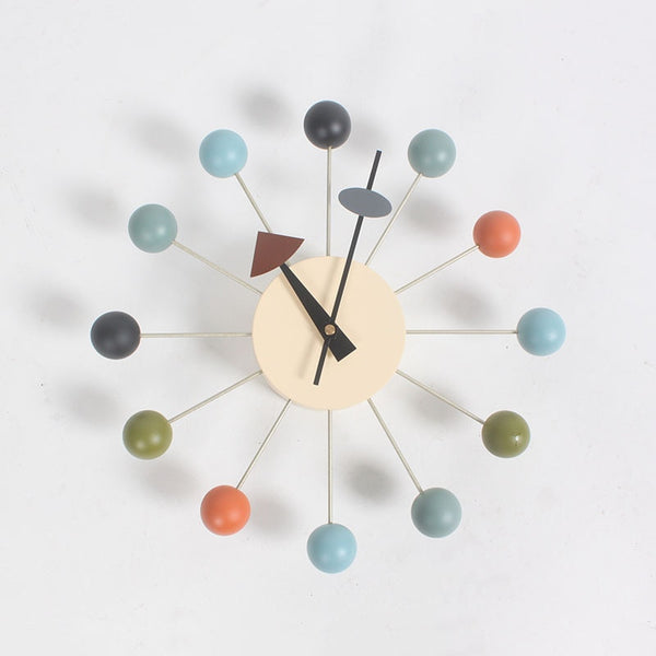 Rainbow Multicolor Bamboo Modern Designer Wall Clock Home Decor Accessories Style