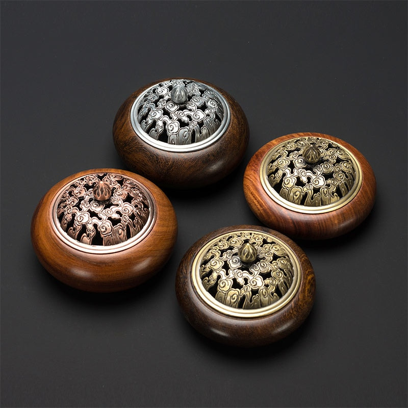 Vietnamese Rosewood Wooden Coil Incense Burners Vietnam Wood Crafts Incense Holders Aromatherapy Home Decor Accessories Style