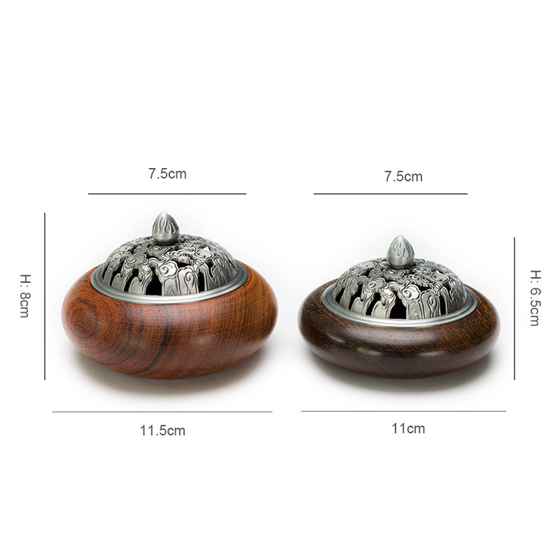 Vietnamese Rosewood Wooden Coil Incense Burners Vietnam Wood Crafts Incense Holders Aromatherapy Home Decor Accessories Style Size Chart