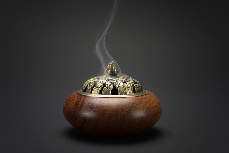 Vietnamese Rosewood Wooden Coil Incense Burners Vietnam Wood Crafts Incense Holders Aromatherapy Home Decor Accessories Style Handmade
