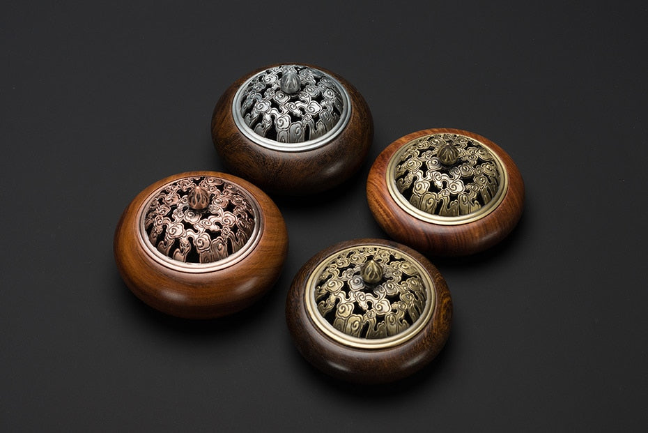 Vietnamese Rosewood Wooden Coil Incense Burners Vietnam Wood Crafts Incense Holders Aromatherapy Home Decor Accessories Style Classic