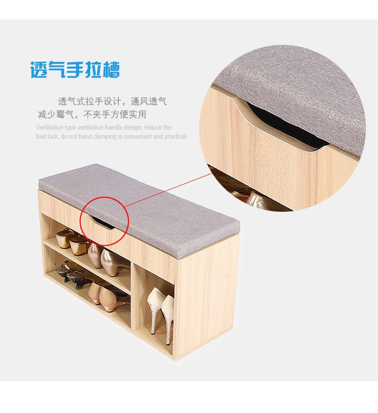 Stools & Ottomans Living Room Furniture Home Furniture fabric+ wood stool tabouret bois minimalist sgabello shoes rack multisize Detail