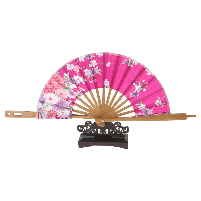 Japanese Pink Sakura Flower Folding Hand Fan Fashion Accessories Style Traditional