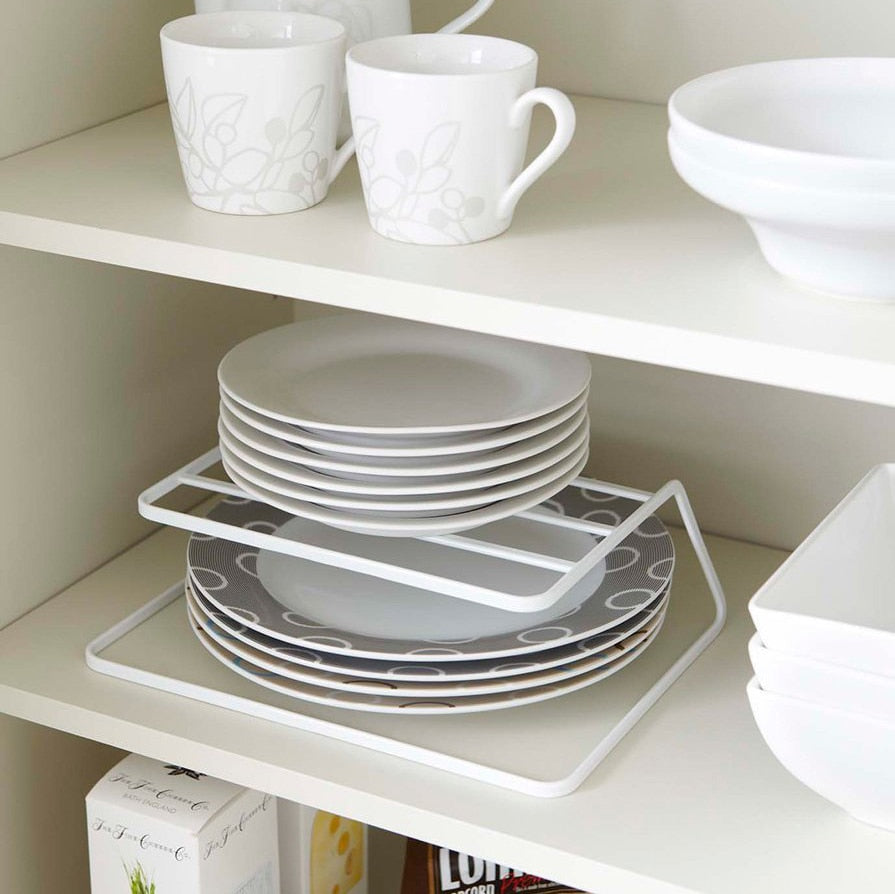 Trend Top Cabinet Layered kitchen Dish Rack Iron Drain Rack 3-layer Plate Rack Dish Storage Shelf Kitchen Storage Furniture Accessories