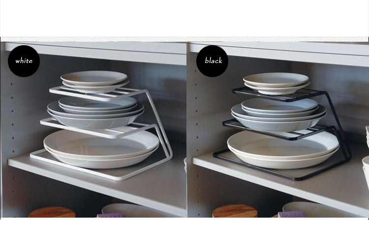 Elegant Top Cabinet Layered kitchen Dish Rack Iron Drain Rack 3-layer Plate Rack Dish Storage Shelf Kitchen Storage Furniture Accessories