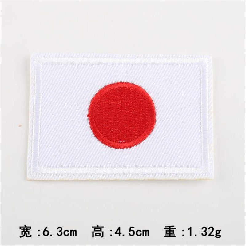 Japan Flag Embroidery Iron On Patch Japanese Patches Badge Stickers For Clothes Fashion Apparel Clothes Accessories Style Size Chart