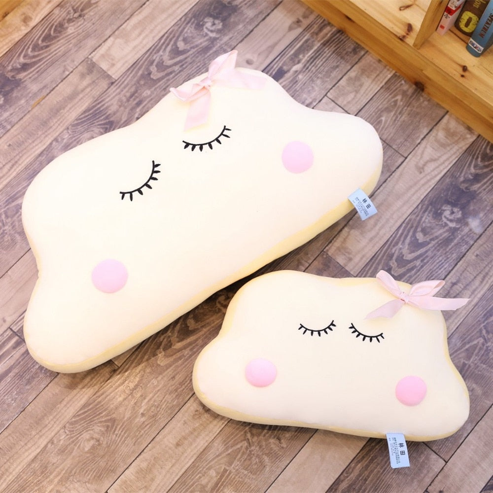 Trend Big Size Cute Japanese Anime Cloud Plush Doll Pillow Soft Cushion Kawaii Clouds Stuffed Toys For Children Baby Kids Adult Gift