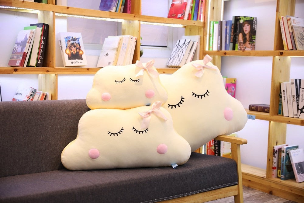 Elegant Big Size Cute Japanese Anime Cloud Plush Doll Pillow Soft Cushion Kawaii Clouds Stuffed Toys For Children Baby Kids Adult Gift
