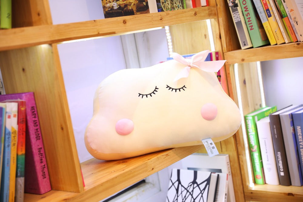 Big Size Cute Japanese Anime Cloud Plush Doll Pillow Soft Cushion Kawaii Clouds Stuffed Toys For Children Baby Kids Adult Gift Bedroom Decor