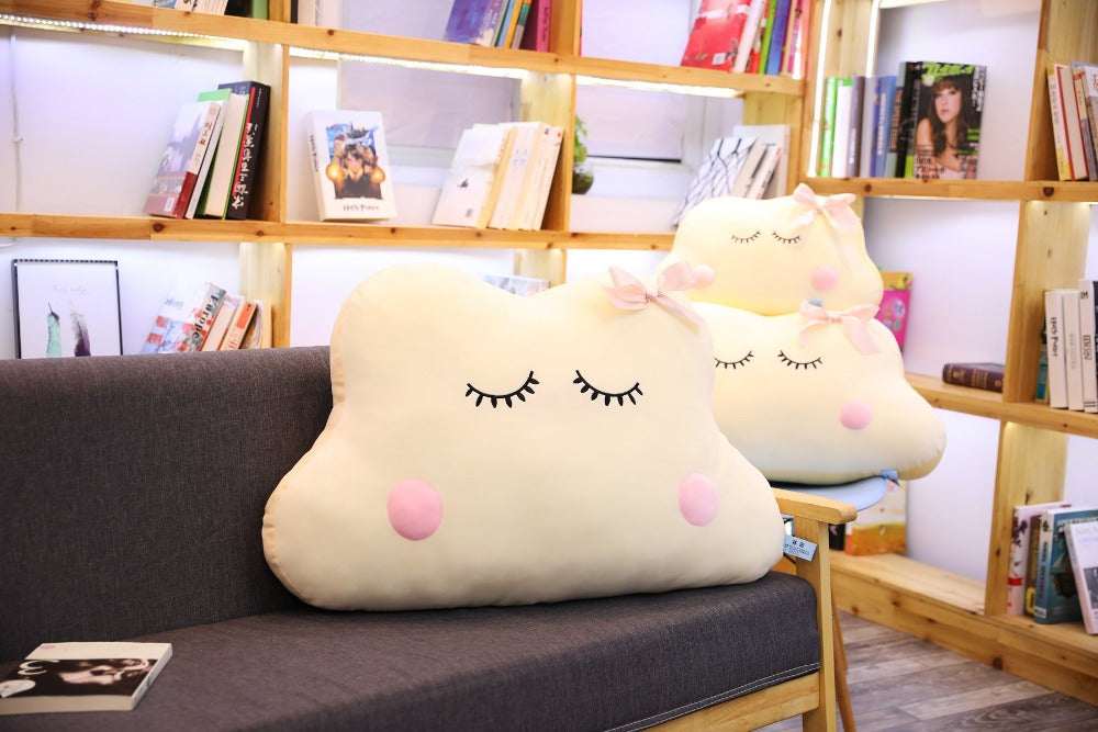 Preppy Big Size Cute Japanese Anime Cloud Plush Doll Pillow Soft Cushion Kawaii Clouds Stuffed Toys For Children Baby Kids Adult Gift Chic
