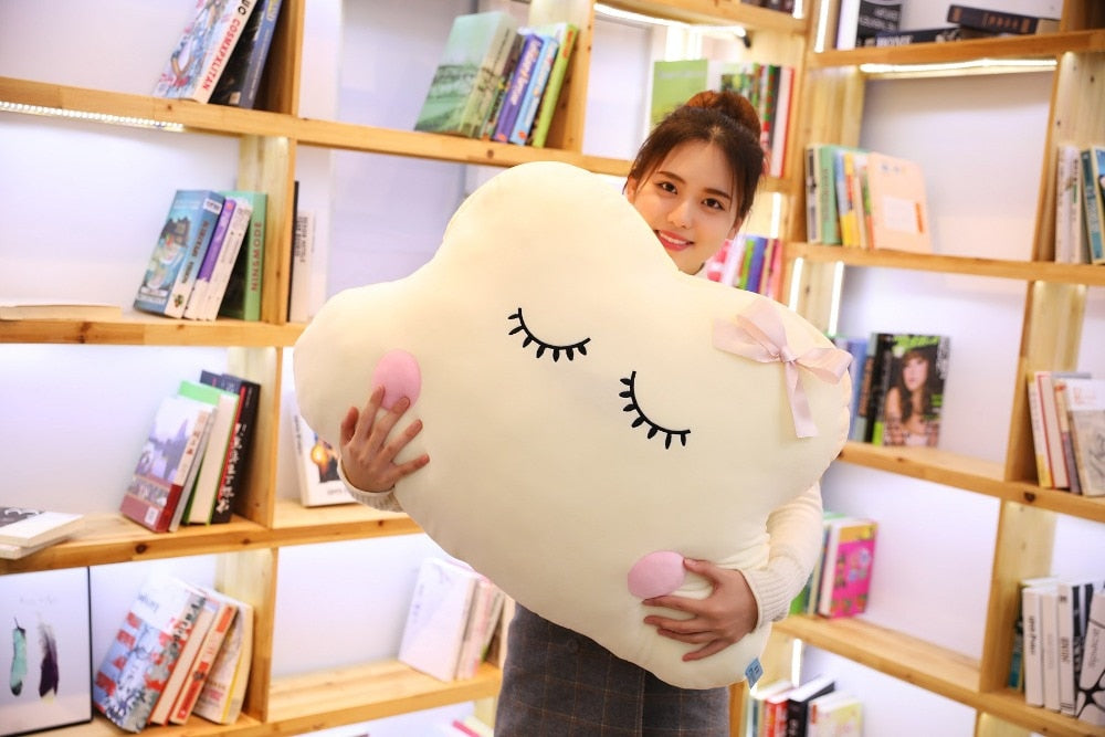 Big Size Cute Japanese Anime Cloud Plush Doll Pillow Soft Cushion Kawaii Clouds Stuffed Toys For Children Baby Kids Adult Gift Cuddle Companion