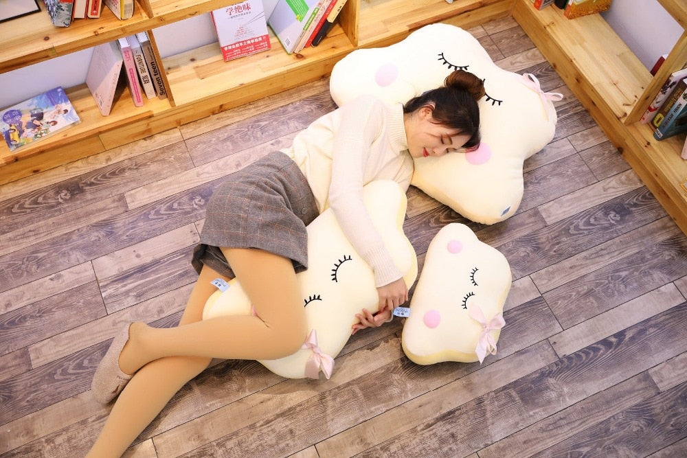 Big Size Cute Japanese Anime Cloud Plush Doll Pillow Soft Cushion Kawaii Clouds Stuffed Toys For Children Baby Kids Adult Gift Sleep Accessories