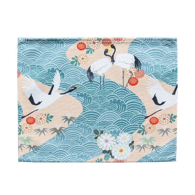 Japanese Crane Pattern Table Placemats