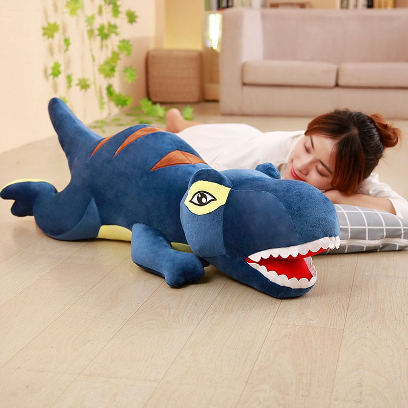 Adorable 1 Piece 60cm - 110cm Dinosaur Plush Doll Toys Cartoon Tyrannosaurus Pillow Cute Stuffed Toy Dolls for Kids Children Adult Birthday Gift