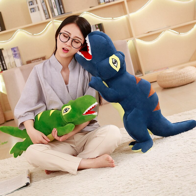 Japanese 1 Piece 60cm - 110cm Dinosaur Plush Doll Toys Cartoon Tyrannosaurus Pillow Cute Stuffed Toy Dolls for Kids Children Adult Birthday Gift