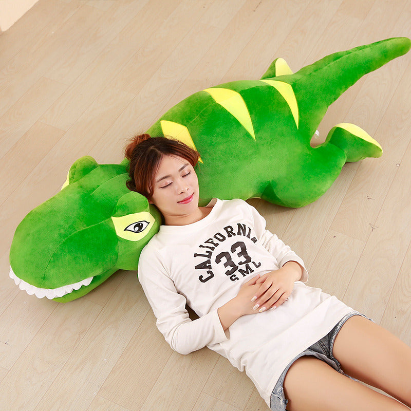 1 Piece 60cm - 110cm Dinosaur Plush Doll Toys Cartoon Tyrannosaurus Pillow Cute Stuffed Toy Dolls for Kids Children Adult Birthday Gift Relaxation