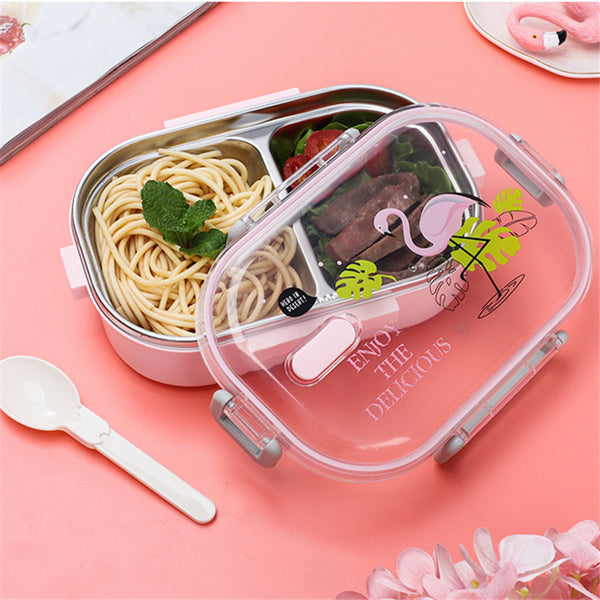Portable Japanese Lunch Box With Compartments Tableware 304 Stainless Steel Kids Bento Box Japan Microwave Food Container