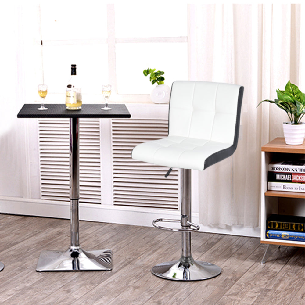 Trending White 2 Piece Pair Swivel Rotating Height Bar Stool Set Modern Soft Bar Chair Lifting Silla Barstool Kitchen Home Furniture HWC