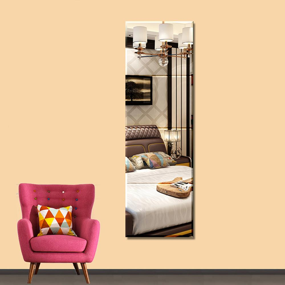 Trending 4 Piece 22*22cm Durable Removable Dressing Mirror Wall Stickers Full Length Mirror Living Room/Kids Bedroom For Home Decor