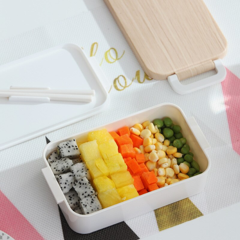Elegant Japanese Wooden Lunch Box Wooden Salad Bento Boxes Portable Microwave Food Container For School Office Camping