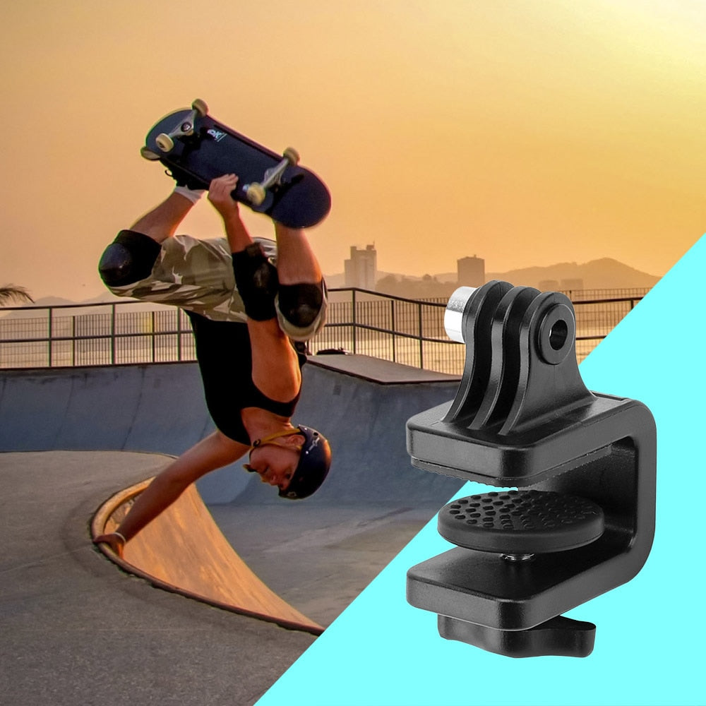 Black Surfboard Skateboard Camera Stabilizer Bracket Mount Holder Stand Clip Clamp for SJCam GoPro Hero 7/6/5/4/3+ for Xiaomi YI 4k Street Sport