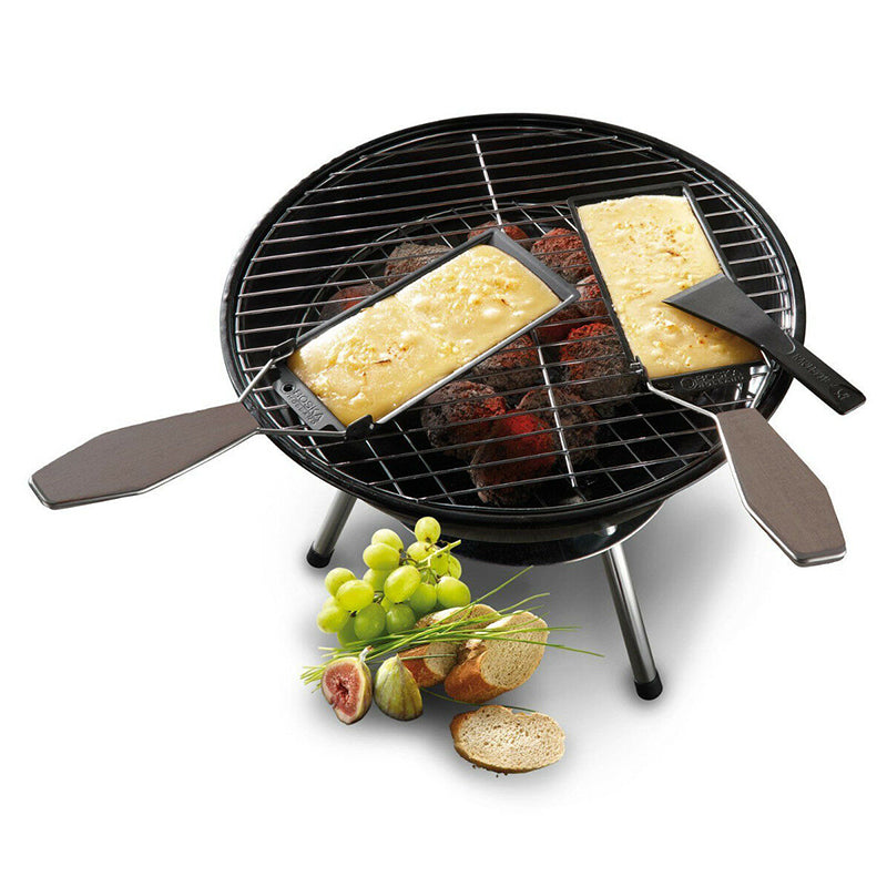 Grill Cheese Raclette Set Non-stick Griller Mini BBQ Cheese Board Baked Cheese Oven Iron Swiss Cheese Melter Pan Tray Trendy