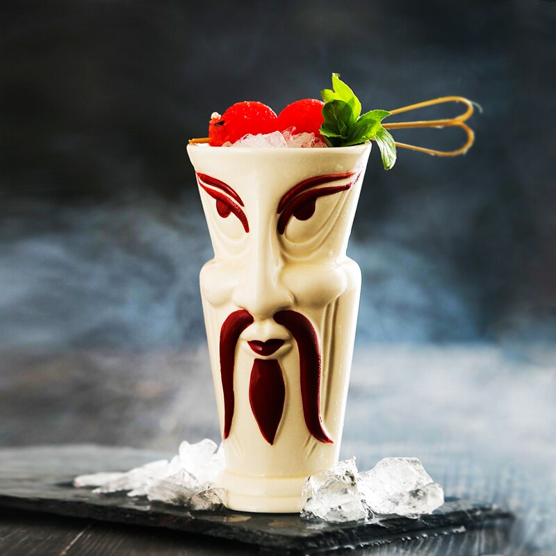 Japanese Samurai Tiki Mug Beer Cocktail Glass