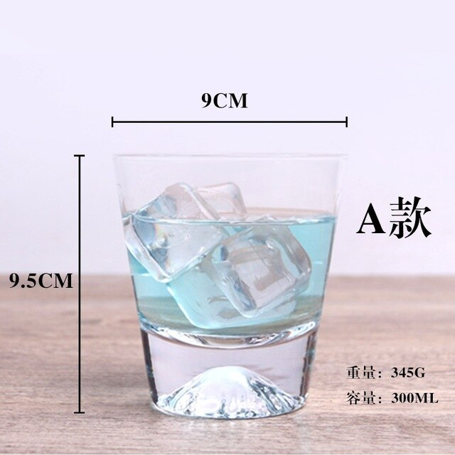 301-400ML Japanese Mt Fuji glass wine cup thickening heat resistant handmade originality kung fu tea Japan Mount Fuji snow mountain cup Size Chart