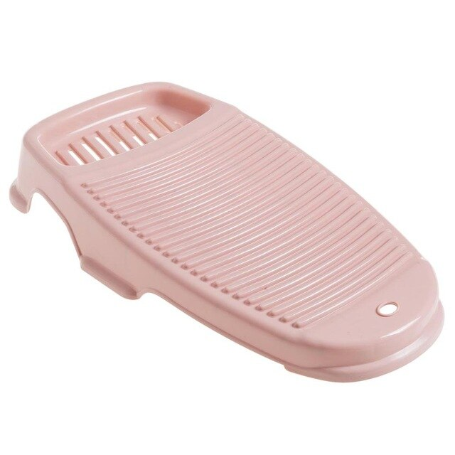 Trend Pink Washboard with Soap Holder Box Laundry Kitchen Accessories