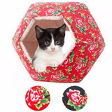 Cuddly Flower Cat Cave - Catari Cats