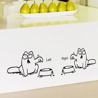Feed Me Cat Wall Stickers - Catari Cats