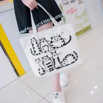 Printed Cartoon Cat Tote - Catari Cats