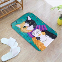 Colorful Cat Printed Rug - Catari Cats