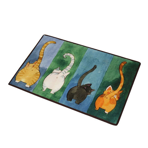 Cat Tail Colorful Floor Mat - Catari Cats