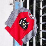 Long Sleeve Cartoon Kitten Girls Shirt - Catari Cats