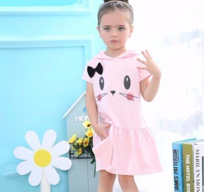 Cat Face Hooded Dress For Toddlers - Catari Cats