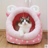 Pink Polka Dot Cat Bed - Catari Cats
