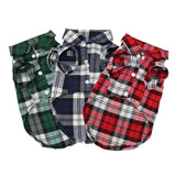 Plaid Button Up Cat Shirt - Catari Cats