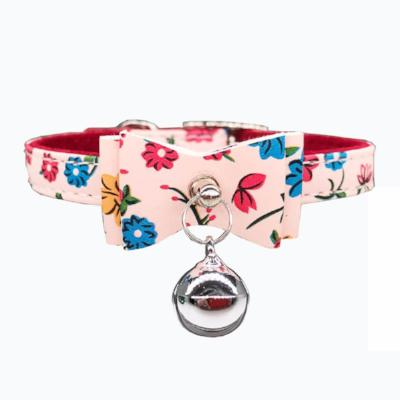 Flower Bow Cat Collar