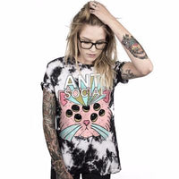 Anti-Social Cat Short Sleeve Tee - Catari Cats