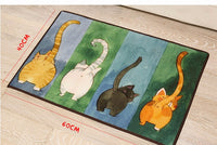 Cat Tail Colorful Floor Mat