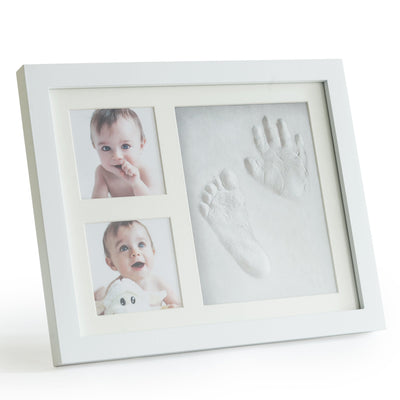 Premium Clay Baby Footprint & Handprint Picture Frame Kit - Up & Raise® - Best Fetal Doppler and Baby Products