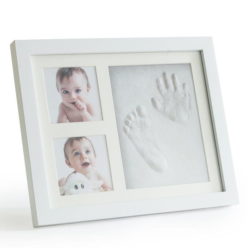 Premium Clay Baby Footprint & Handprint Picture Frame Kit
