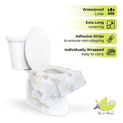 Up & Raise Disposable, Water-proof Toddler Toilet Seat Cover Sheets - Up & Raise® - Best Fetal Doppler and Baby Products