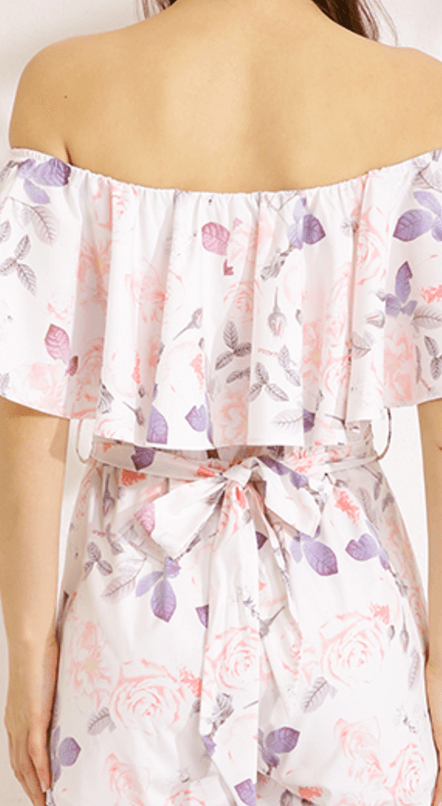 Spring Rose Floral Playsuit