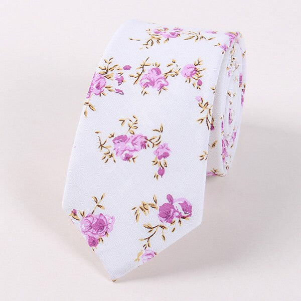 Floral Statement Neck Tie (various colors)